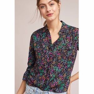 Maeve by Anthropologie Amboseli Floral Button Down